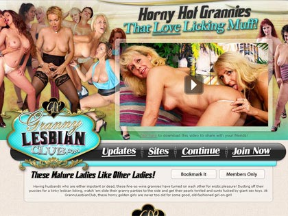 Granny Lesbian Club - Horny Hot Grannies That Love Licking Muff!