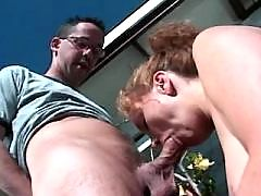 Mature fucks with hubby outdoor