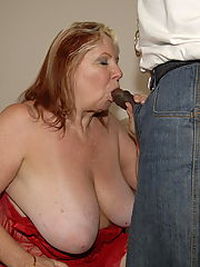 This big mama loves to get a big black cock to eat