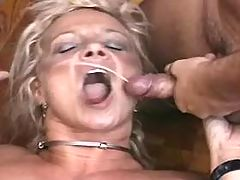 Mom fucks w blacky and gets cumshot