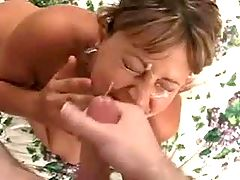 Mature gets hard fuck in all holes