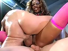 Ebony got screwed by big black dick