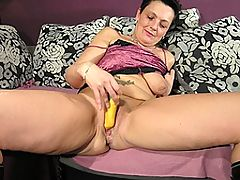 Solo mature slut playing with herself