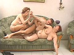 Hardcore fat grannies in lustful threesome orgy