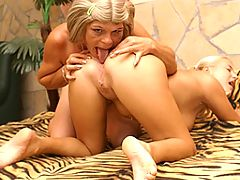 Dildo loving old and young lesbians